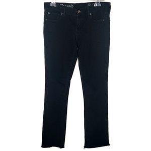 Madewell Rail Straight Raw Hem Black Jeans 27